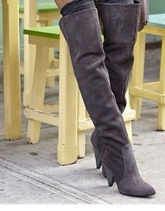 Vince Camuto Gray Suede Over-the-knee boots